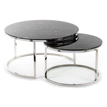 Komplet stolików Treze Silver Black
