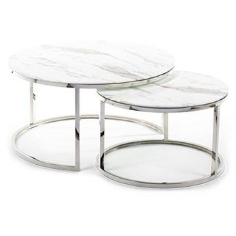 Komplet stolików Treze Silver White