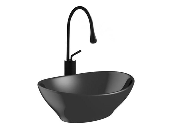 VELDMAN UMYWALKA CZARNA VERA BLACK Meblowe Szerokość 41 cm Owalne Nablatowe Ceramika Kolor Czarny