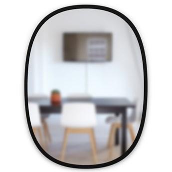 Lustro Hub Oval 46x61 cm czarne