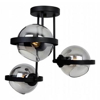 Awangardowa Lampa Wisząca z Grafitowymi Szklanymi Kloszami