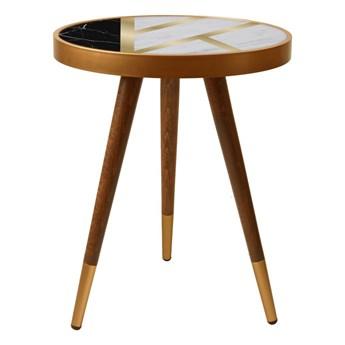 SELSEY Stolik kawowy Lennto w stylu glamour okrągły średnica 45 cm
