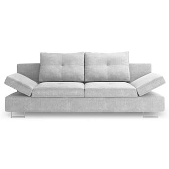 Sofa rozkładana 2-os. Zircon 210x86 cm jasnoszara