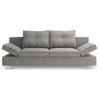 Sofa rozkładana 2-os. Zircon 210x86 cm szara