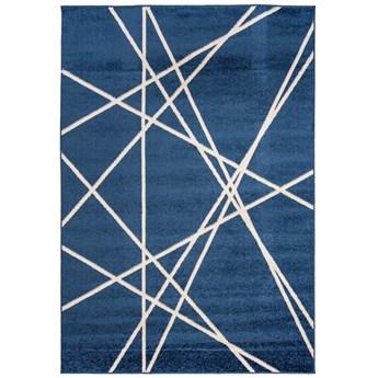 Dywan Nowoczesny Geometryczny Granatowy Spring 57356 300 x 400 cm