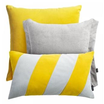 Żółto szary zestaw poduszek dekoracyjnych Pepper + Stripes