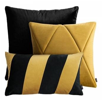 Czarno złoty zestaw poduszek dekoracyjnych Touch + Stripes