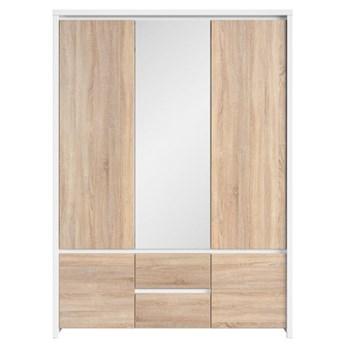 Szafa Kaspian - Kolor: Biały/Dąb Sonoma 154x211x56
