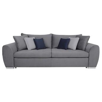 Sofa Gaspar o głębokim siedzisku z funkcją spania tylu DL oraz pojemnikiem 255x89x126