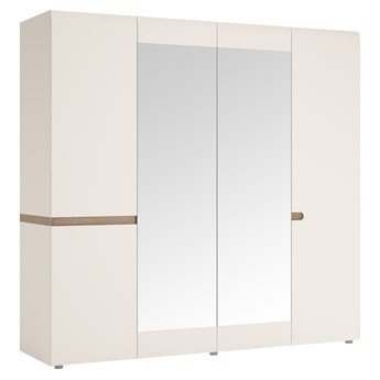 Szafa Linate - Kolor: Biały Mat/Biały Alpejski Połysk/Trufla 218.5x209x59