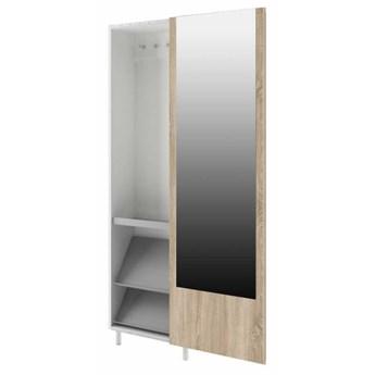 Szafa z garderobą Kate - Kolor: Biały/Sonoma 54x192x26