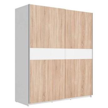 Szafa F27 170 - Kolor: Biały/Dąb Sonoma/Biały