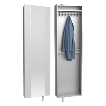 Szafa z lustrem i podwójną garderobą Home - Kolor: Szary 54x190x15