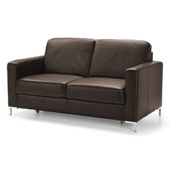 Sofa 2-osobowa Basic - Kolor: Ciemnobrązowy 155x85x91
