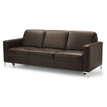 Sofa 3-osobowa Basic - Kolor: Ciemnobrązowy 219x85x91