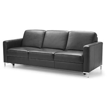 Sofa 3-osobowa Basic - Kolor: Czarny 219x85x91