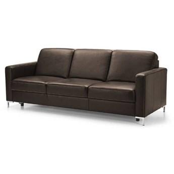 Sofa 3-osobowa Basic z funkcją spania - Kolor: Ciemnobrązowy 219x85x91