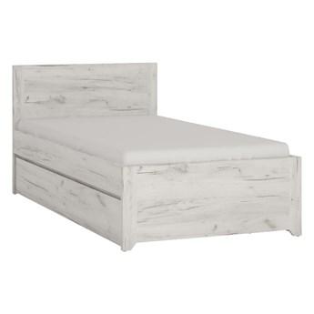Łóżko Angel - Kolor: Dąb White Craft 95.8x80.5x206.1