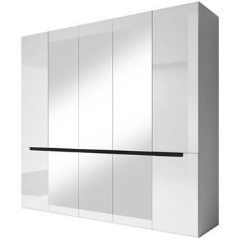 Szafa Hektor - Kolor: Biały/Biały Połysk 225x213x60