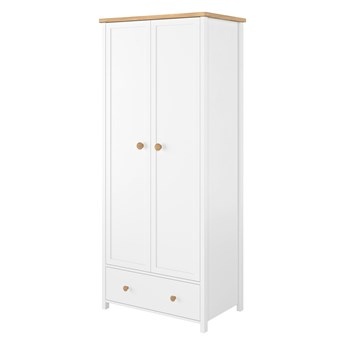 Szafa Story - Kolor: Biały/Dąb Nash 85x186x52
