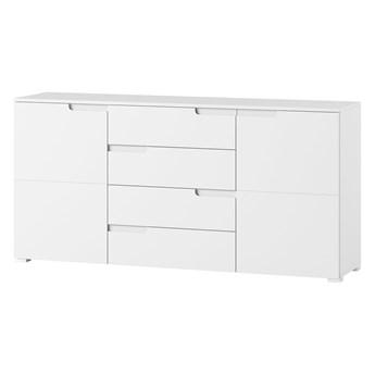 Komoda Selene - Kolor: Biały/Biały Połysk 165x80x40