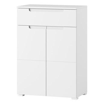 Szafka Selene - Kolor: Biały/Biały Połysk 70x101x40