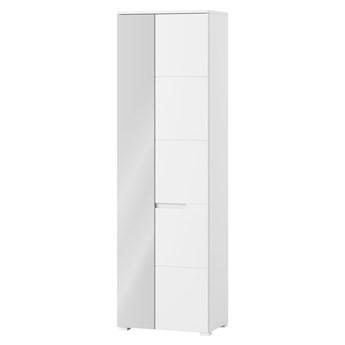 Szafka Selene - Kolor: Biały/Biały Połysk 60x198x40