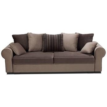 Sofa Deluxe - Rozkładana z funkcją spania - Kolor: Ciemnobrązowy 256x90x106