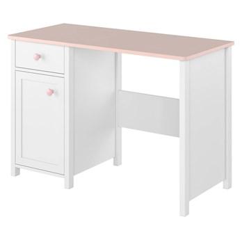 Biurko Luna - Kolor: Biały/Różowy 110x76x52