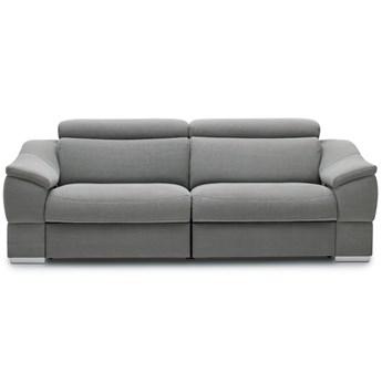 Sofa 2-osobowa z funkcją relaksu manualnego prawa Urbano - Kolor: Szary 182x79x104