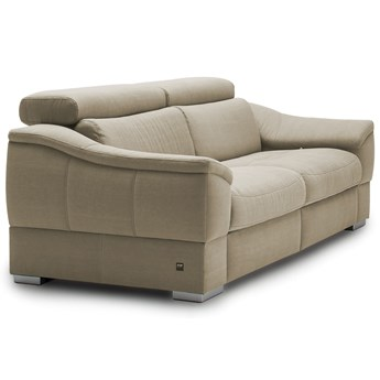 Sofa 3-osobowa Urbano - Rozkładana z funkcją spania - Kolor: Beżowy 222x79x104