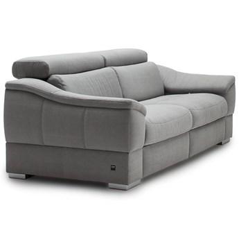 Sofa 3-osobowa z funkcją relaksu manualnego prawa Urbano - Kolor: Szary 222x79x104