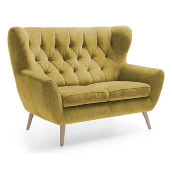 Sofa 2-osobowa Voss - Kolor: Musztardowy 137x101x95