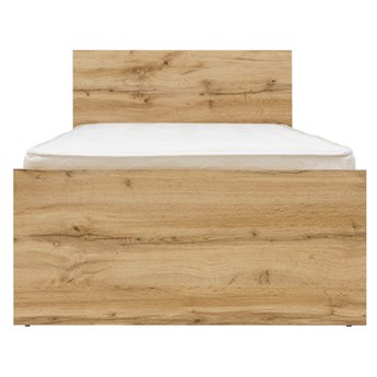 Łóżko Zele - Kolor: Dąb Wotan 95x80.5x204.5