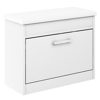 Szafka na buty Alaska 11 - Kolor: Biały/Biały Meble 67x55x28