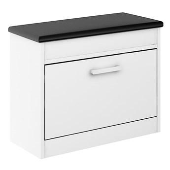 Szafka na buty Alaska 11 - Kolor: Biały/Czarny Meble 67x55x28