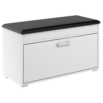 Szafka na buty Fala 1 - Kolor: Biały/Czarny Meble 84x49x39