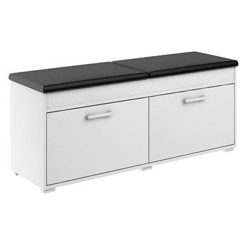 Szafka na buty Fala 2 - Kolor: Biały/Czarny Meble 100x50x37.7