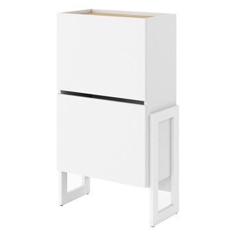Komoda Claro - Kolor: Biały/Dąb Riviera 60x105x31