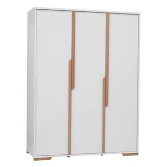 Szafa Snap - Kolor: Biały/Naturalne Drewno Bukowe 145.5x195x56