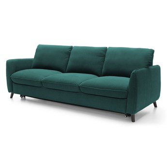 Sofa 3-osobowa Nils - Rozkładana z funkcją spania - Kolor: Zielony 231x85x88