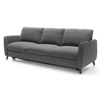 Sofa 3-osobowa Nils - Rozkładana z funkcją spania - Kolor: Szary 231x85x88