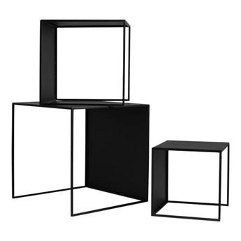 Zestaw 3 stolików Wall Trio Metal - Kolor: Czarny