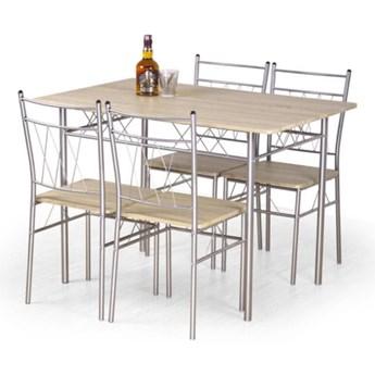 Zestaw stół i 4 krzesła Faust 110x75x70