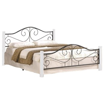 Łóżko Violetta 160 - Kolor: Biały/Czarny
