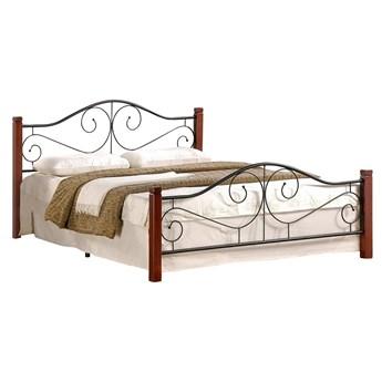 Łóżko Violetta 160 - Kolor: Czereśnia Antyczna/Czarny