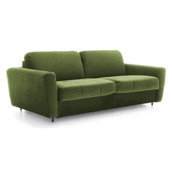 Sofa 3-osobowa Olbia - Rozkładana z funkcją spania - Kolor: Zielony 212x88x101