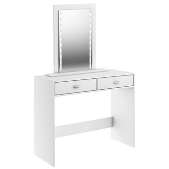 Toaletka z lustrem Mega LED - Kolor: Biały Meble 100x144.8x40