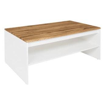 Ława Holten - Kolor: Biały/Dąb Wotan 110x45.5x65