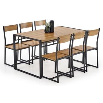 Zestaw stół + 6 krzeseł Bolivar 140x75x80